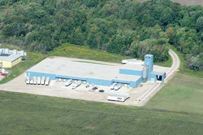 Photo of new production facility